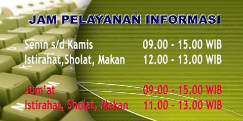 jam layanan informasi